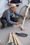 Making a shovel, Türkmenabat Bazar