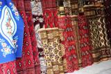 Carpets at the Türkmenabat Bazar