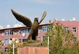 Statue of an eagle, Türkmenabat