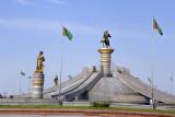 Ashgabat Airport Roundabout Fountain
