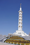 The monument is 185m tall