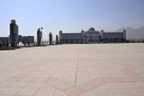 Vast empty square in front of the Constitution Monument - site of 2012's new years festivities