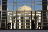Mirrored entrance, National Cultural Center, Ashgabat