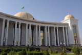 Presidential Museum, the center piece of the Great Saparmurat Turkmenbashi Cultural Centre