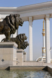 Lions of the National Library, Ashgabat