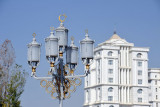 Lampposts around the Independence Monument Park, Ashgabat
