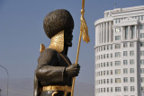 Statue of a guard at the Turkmenbashy statue