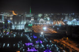 New district of Ashgabat at night