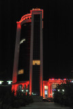 Peytagt Tower and Shopping Center in red