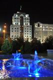 Dancing blue fountain