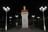 A golden bust of Turkmenbashy, Independence Park