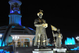 The Turkmenistan Independence Monument at night