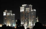 Ashgabat apartments at night
