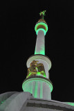Turkmenistan Independence Monument at night