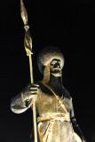 Turkmen spearman statue
