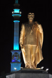 Türkmenbashy statue with the Independence Monument
