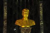 Golden bust of President Niyazov