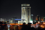 View from the Grand Turkmen Hotel at night, Ashgabat