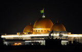 Three gold domes of the Turkmenistan Presidential Administration