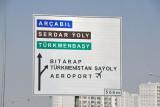 Turnoff for Ashgabat Airport