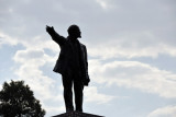 The only remaining statue of Lenin in Ashgabat