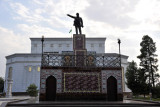Lenin Square is tucked away behind the Magtymguly Dramatic Theater