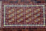 Tiles in the style of Turkmen carpets - Lenin Square