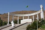 Türkmenbashy monument at Saglyk Ýoly