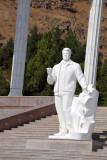 Surprising - a non-gold statue of President Niyazov