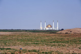 The Kipchak Grand Mosque, on a flat open plain west of Ashgabat