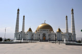 The four minarets are each 91m tall - Turkmenistan achieved independence in 1991