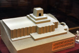 Model of pro to-Zoroastrian ziggurat at the bronze age site Althndepe, the Golden Hill,