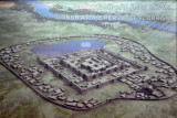 Artists impression of Gonur at its peak during the Bronze Age ca 3000 BC