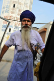 My sword-wielding driver from the Golden Temple in Amritsar