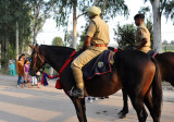 Mounted soldiers of the Indian Border Security Force