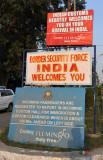 Wagah Border signs