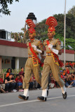 The next two BSF soldiers quick march