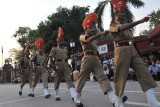 Parade of India BSF soldiers with fast arm swinging march