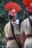 Indian soldier in parade dress uniform