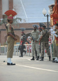 The gates separating India and Pakistan are open