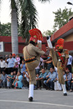Impressive high kicks by the BSF soldiers