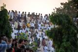 The Pakistani spectators - a small turnout
