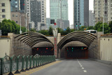 Road tunnel beneath the Huangpu River connecting Pudong to Shanghai