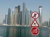 Dubai Marina from Skydive Dubai's little airport