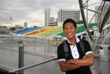 Dennis on the Marina Bay Sands Footbridge