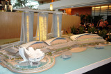 Model of the Marina Bay Sands development