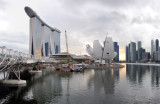Panoramic view of the Marina Bay Sands