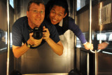 With Dennis in the Nikolaikirche elevator