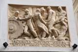 Vienna relief sculpture - Fabrilia Movent Orbem Adapt. Anno Dom. MCMXV (1915), Herrengasse 10