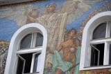 Mosaic façade - Athena and Mercury